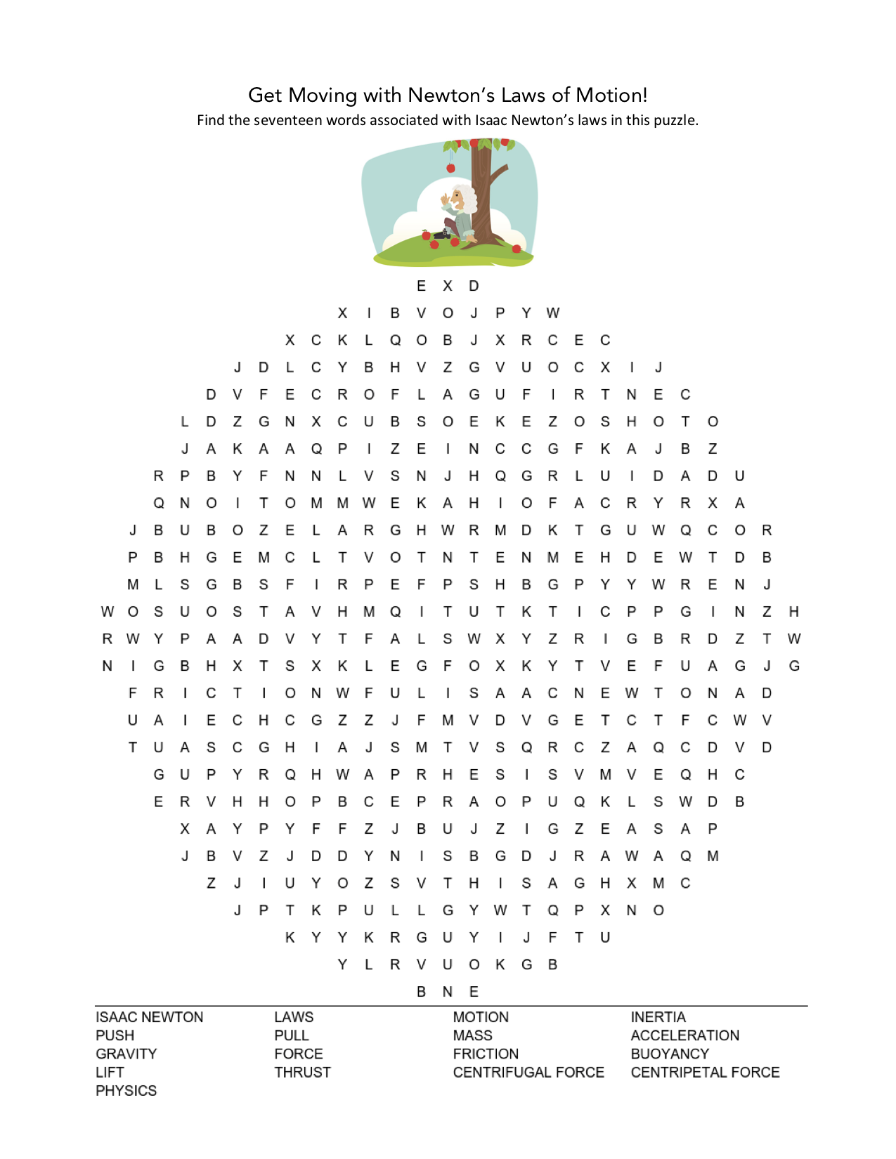 celebrate-picture-books-picture-book-review-newton's-laws-word-search-puzzle