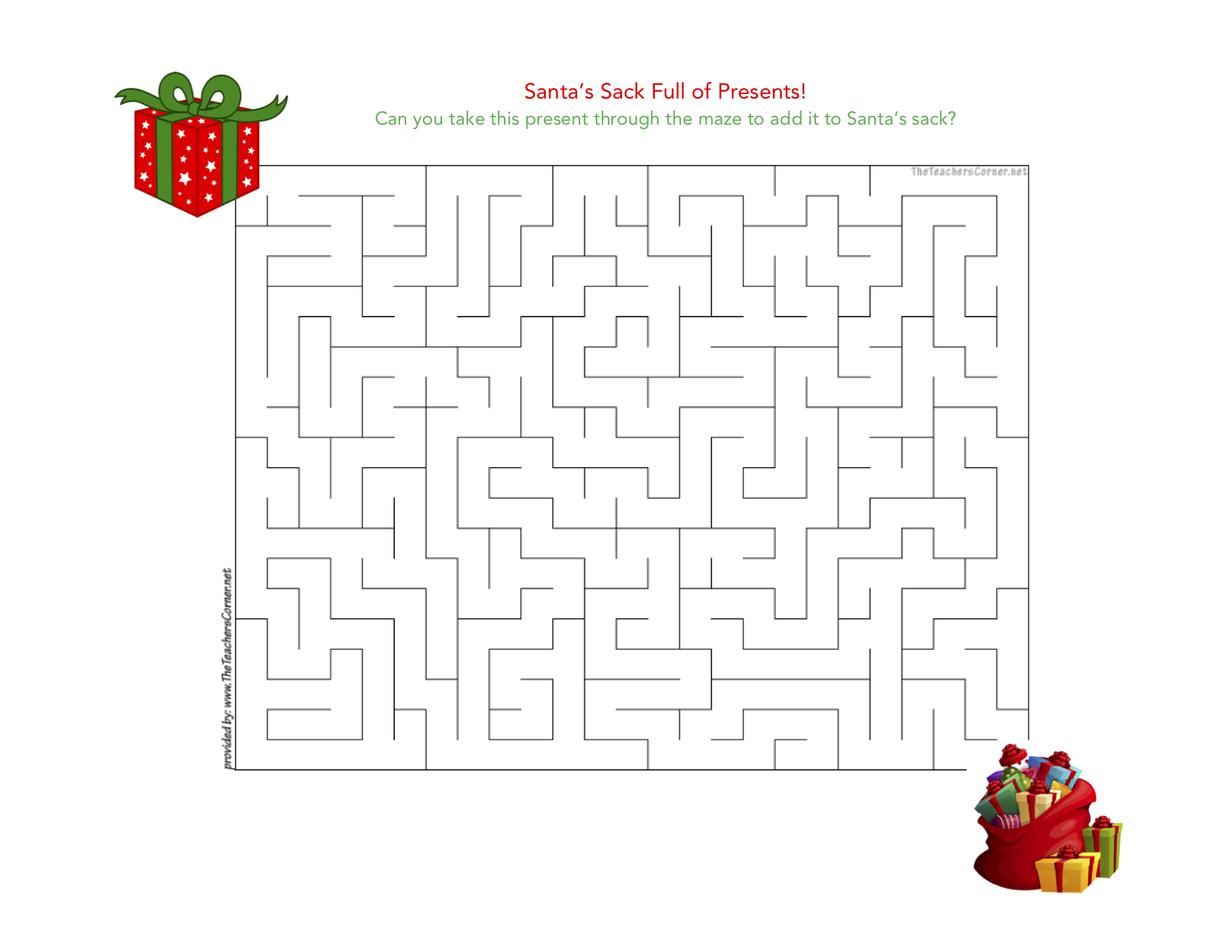celebrate-picture-books-picture-book-review-santa's-sack-maze-puzzle