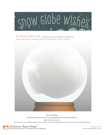 Snow Globe Wishes Activity Sheet from Sleeping Bear Press