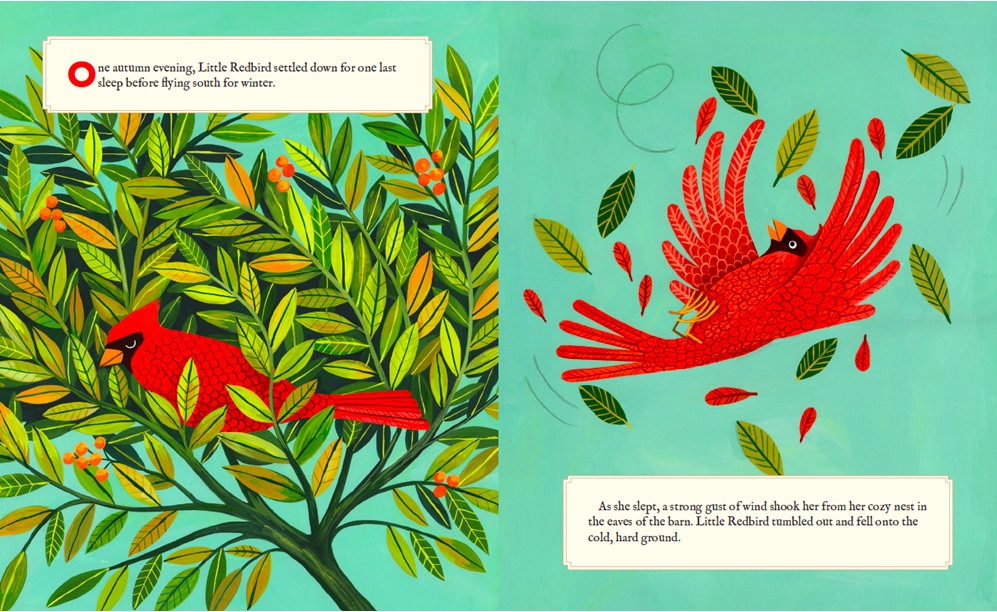 celebrate-picture-books-picture-book-review-why-evergreens-keep-their-leaves-frost-wind