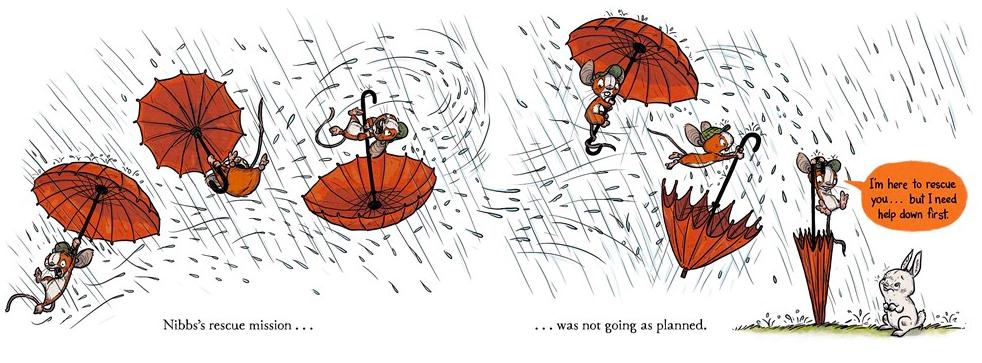 celebrate-picture-books-picture-book-review-bruce's-big-storm-umbrella