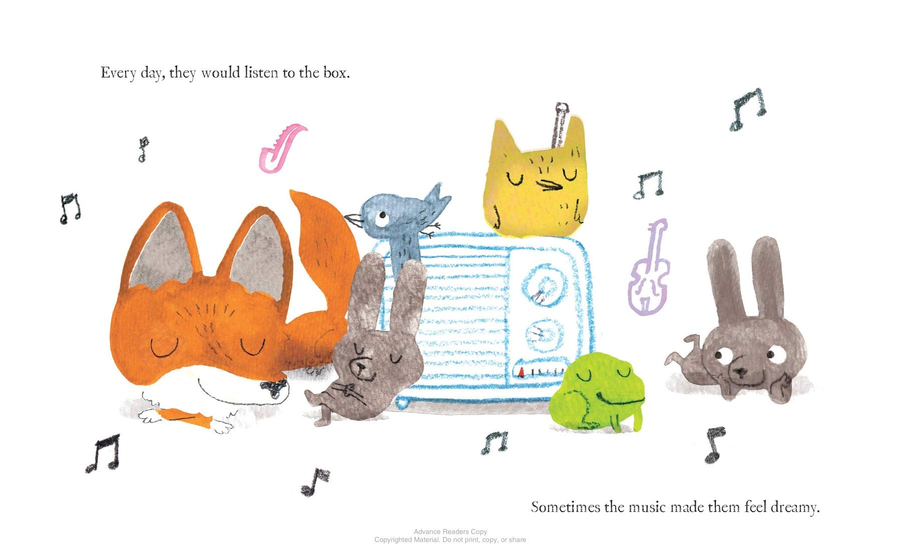 celebrate-picture-books-picture-book-review-a-fox-found-a-box-listening