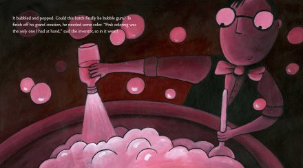 celebrate-picture-books-picture-book-review-Pop!-the-invention-of-bubble-gum-pink