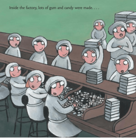 celebrate-picture-books-picture-book-review-Pop!-the-invention-of-bubble-gum-candy