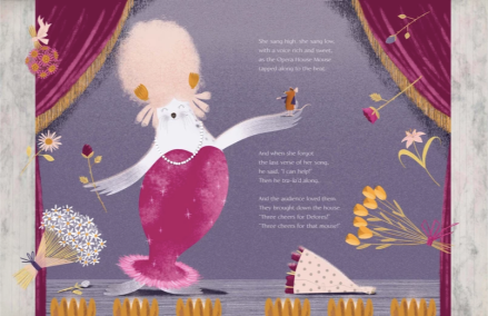 celebrate-picture-books-picture-book-review-diva-delores-and-the-opera-house-mouse-cheering