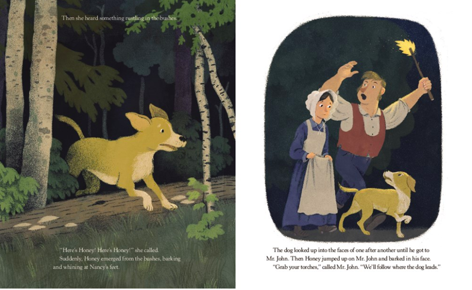 celebrate-picture-books-picture-book-review-honey-the-dog-who-saved-lincoln-rescue