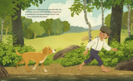 celebrate-picture-books-picture-book-review-honey-the-dog-who-saved-lincoln-more-adventures