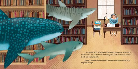 celebrate-picture-books-picture-book-review-shark-lady-library