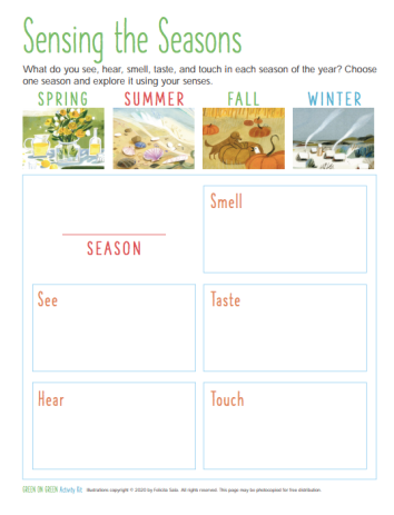 Green-on-Green-activity-kit-sensing-the-seasons-page