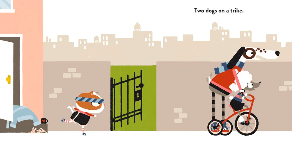 celebrate-picture-books-picture-book-review-two-dogs-on-a-trike-gate