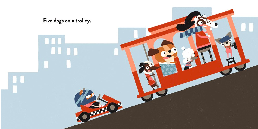 celebrate-picture-books-picture-book-review-two-dogs-on-a-trike-trolley