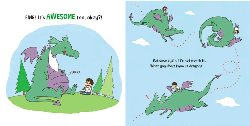 celebrate-picture-books-picture-book-review-you-dont-want-a-dragon-awesome
