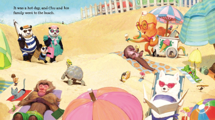 celebrate-picture-books-picture-book-review-chu's-day-at-the-beach-arriving