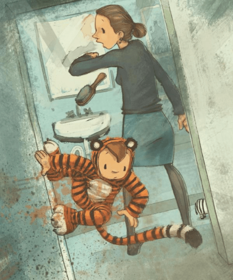 celebrate-picture-books-picture-book-review-a-tiger-like-me-brushing-teeth