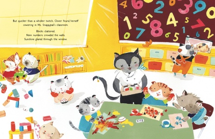 celebrate-picture-books-picture-book-review-Clover-Kitty-Goes-To-Kittygarten-classroom