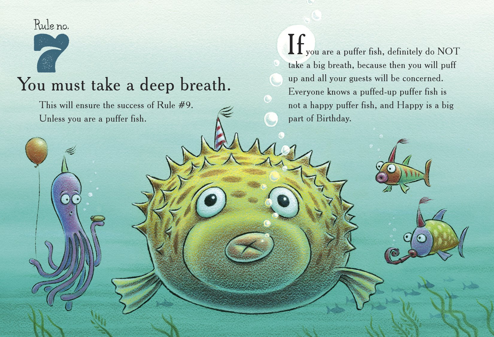 celebrate-picture-books-picture-book-review-ten-rules-of-the-birthday-wish-puffer-fish
