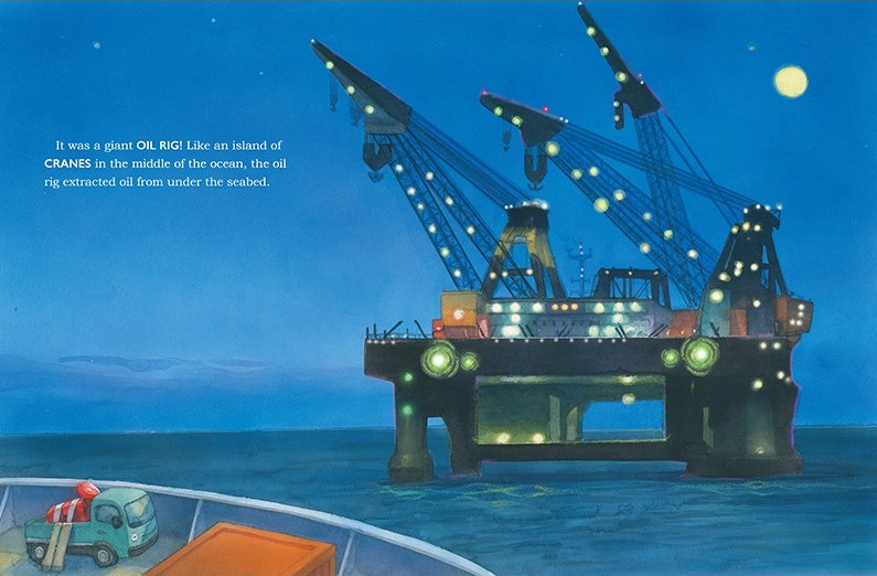 celebrate-picture-books-picture-book-review-the-little-red-crane-oil-rig