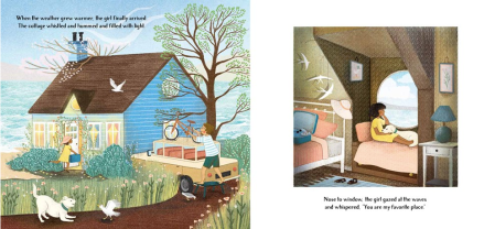 celebrate-picture-books-picture-book-review-the-little-blue-cottage-warm-weather