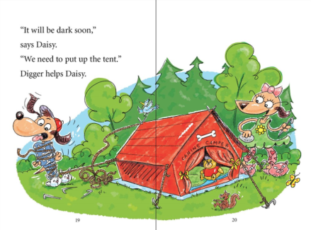 celebrate-picture-books-picture-book-review-digger-and-daisy-go-camping-tent