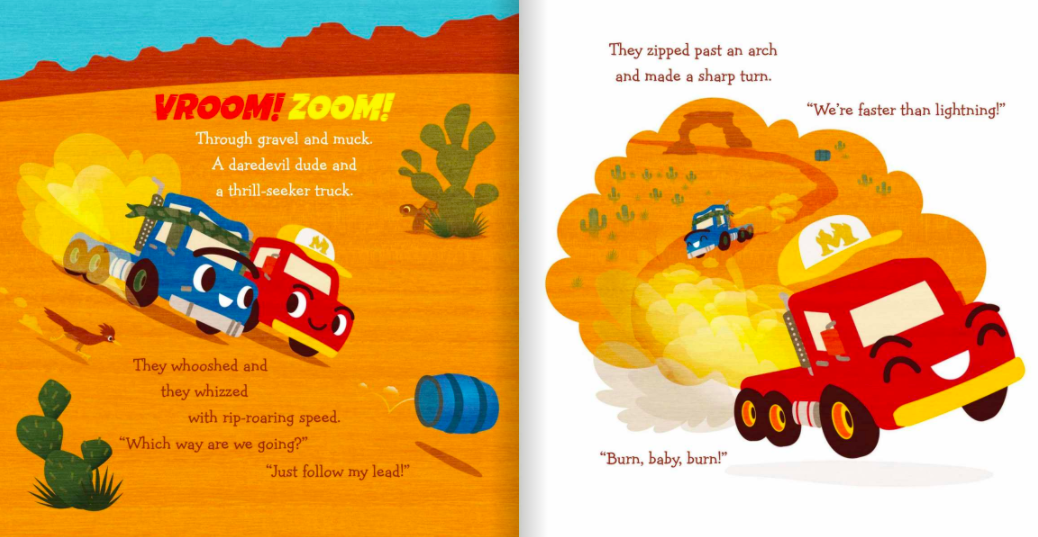celebrate-picture-books-picture-book-review-two-trucks-get-lost-speeding