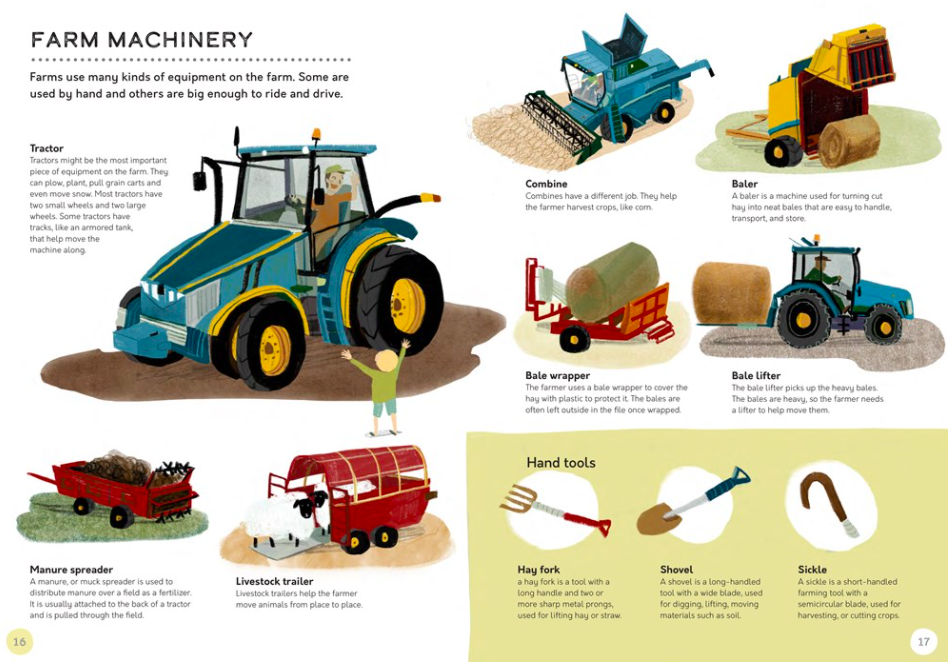 celebrate-picture-books-picture-book-review-the-farm-that-feeds-us-chicken-farm-machinery