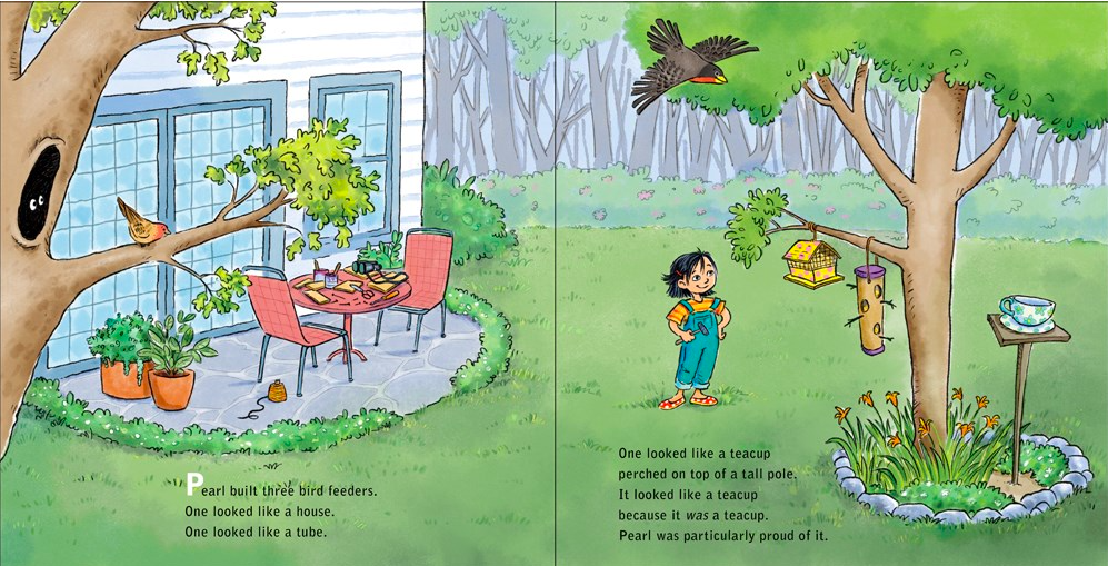celebrate-picture-books-picture-book-review-girl-versus-squirrel-bird-feeders