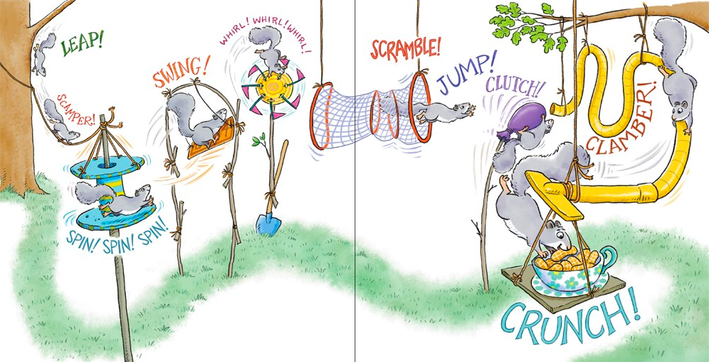 celebrate-picture-books-picture-book-review-girl-versus-squirrel-obstacle-course