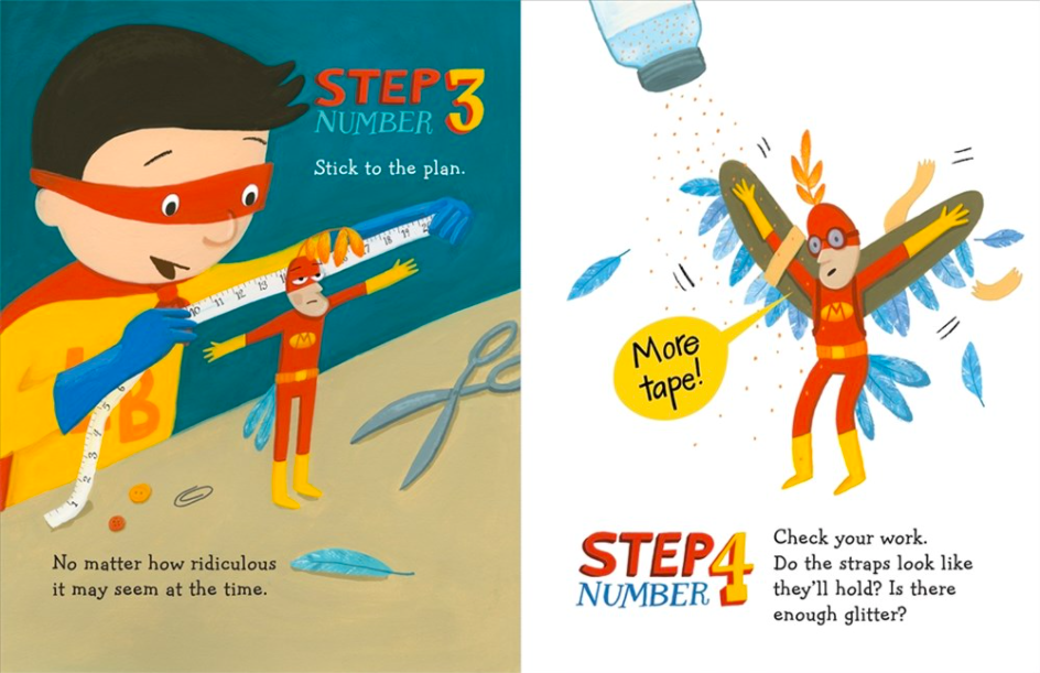 celebrate-picture-books-picture-book-review-ten-steps-to-flying-like-a-superhero-measuring