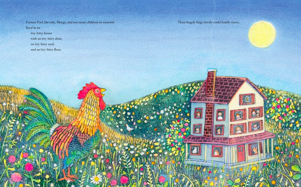celebrate-picture-books-picture-book-review-a-crowded-farmhouse-folktale-rooster