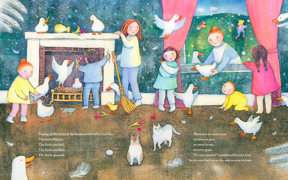 celebrate-picture-books-picture-book-review-a-crowded-farmhouse-folktale-ducks