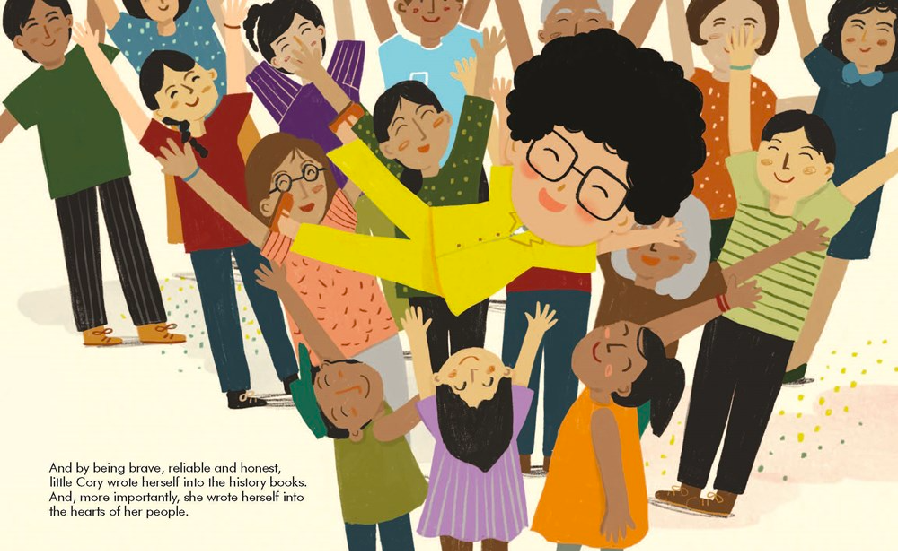 celebrate-picture-books-picture-book-review-corazon-aquino-little-people-big-dreams-cheering
