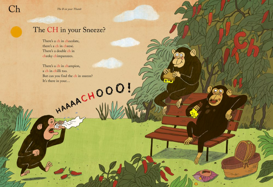 celebrate-picture-books-picture-book-review-the-B-on-your-thumb-chimpanzees