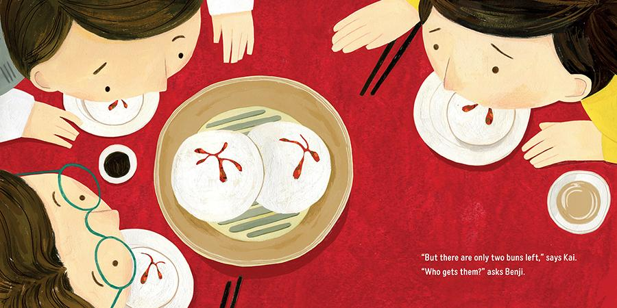 celebrate-picture-books-picture-book-review-luna's-yum-yum-dim-sum-two-buns-left