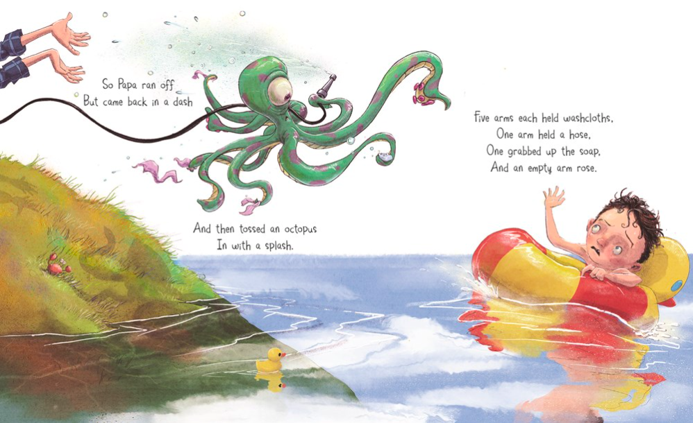 celebrate-picture-books-picture-book-review-bobby-babinski's-bathtub-octopus