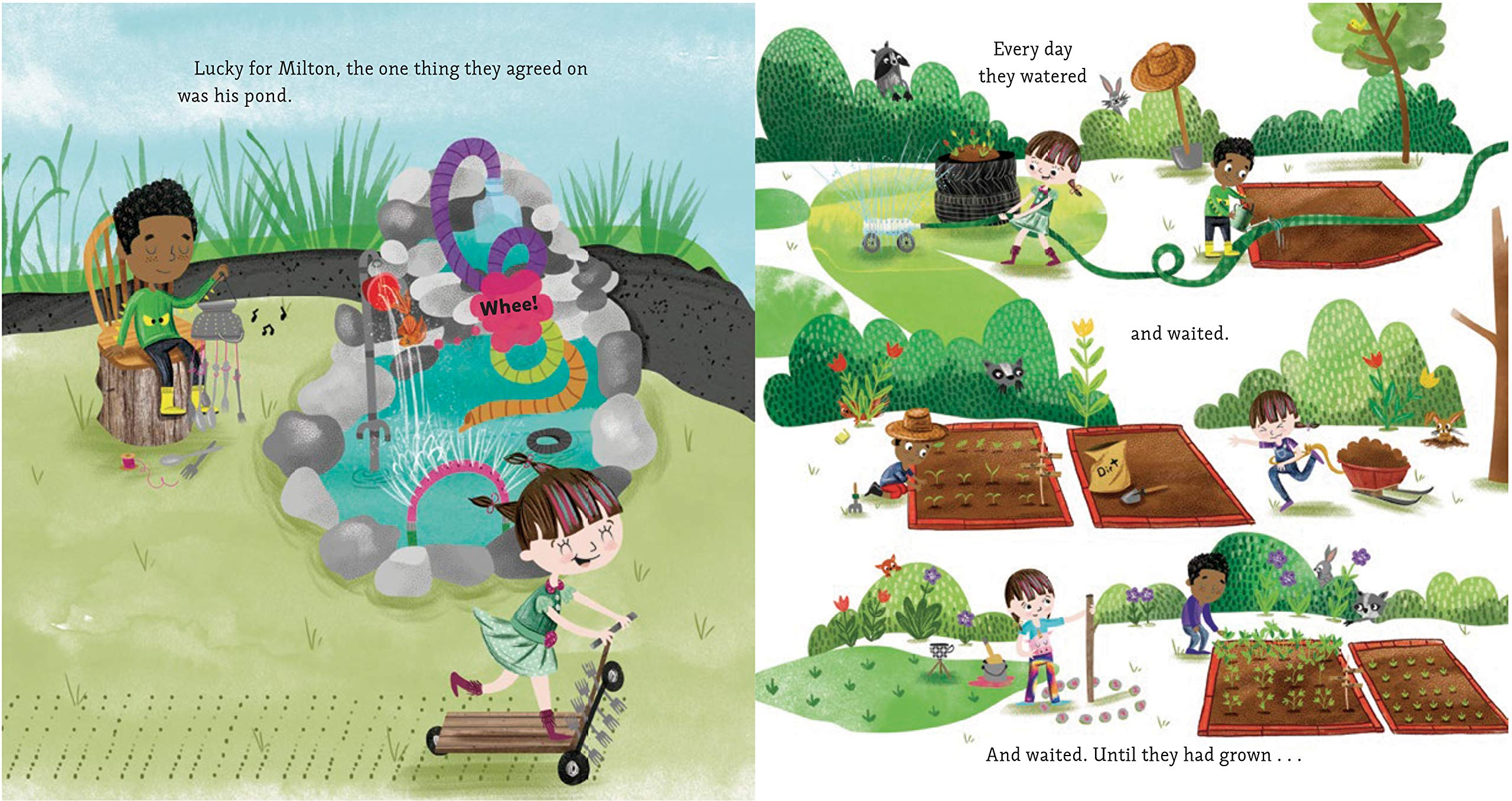 celebrate-picture-books-picture-book-review-maxine-and-the-greatest-garden-ever-pond
