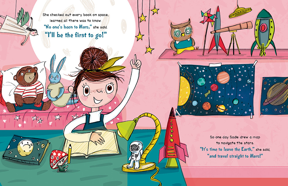 celebrate-picture-books-picture-book-review-sadie-sprocket-builds-a-rocket-bedroom