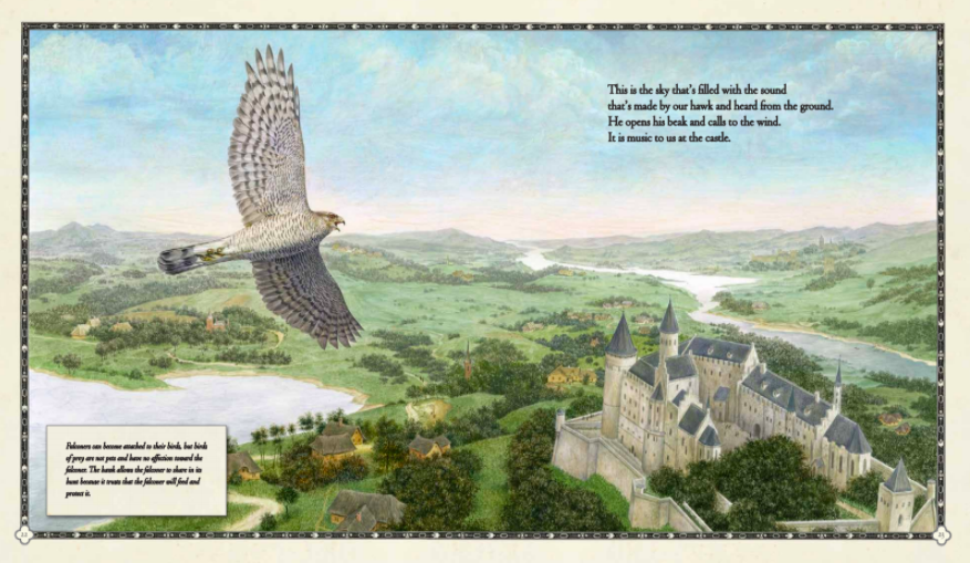 celebrate-picture-books-picture-book-review-the-hawk-of-the-castle-soaring