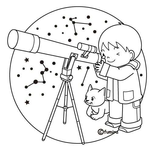 celebrate-picture-books-picture-book-review-astronomy-coloring-page-telescope