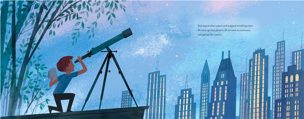 celebrate-picture-books-picture-book-review-up-in-the-leaves-stargazing