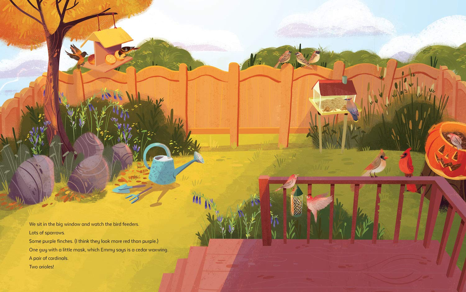 celebrate-picture-books-picture-book-review-a-garden-to-save-the-birds-feeders