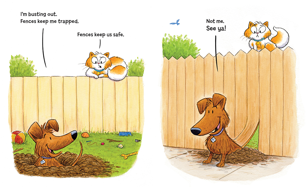 celebrate-picture-books-picture-book-review-hudson-and-tallulah-take-sides-fence