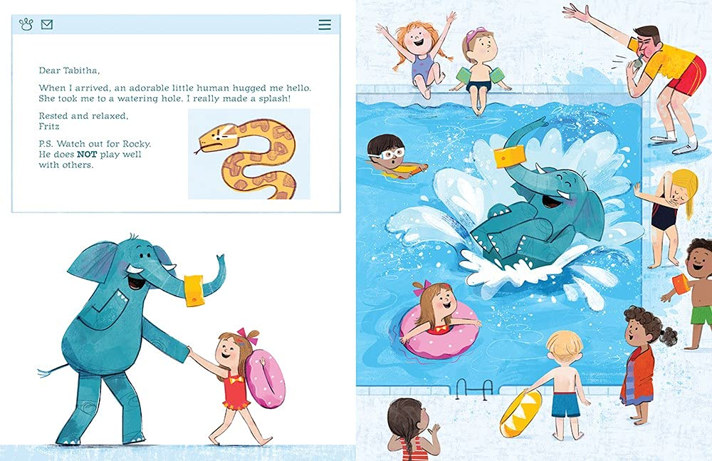 celebrate-picture-books-picture-book-review-tabitha-and-fritz-trade-places-pool