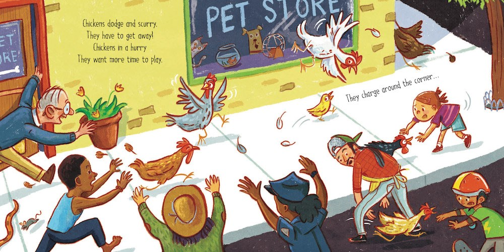 celebrate-picture-books-picture-book-review-chickens-on-the-loose-pet-store