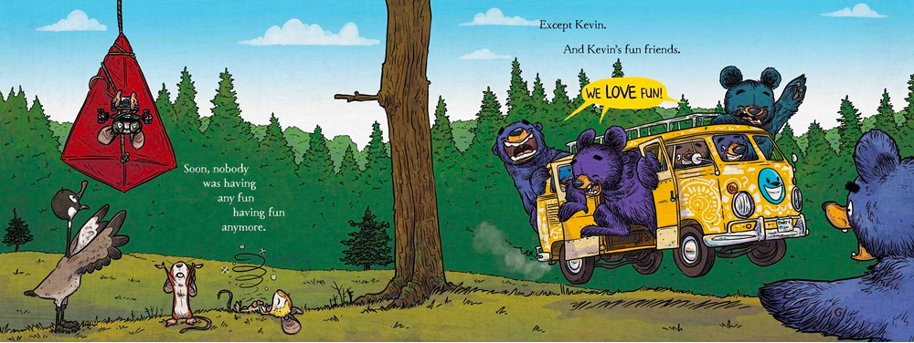 celebrate-picture-books-picture-book-review-the-bruce-swap-Kevin's-friends