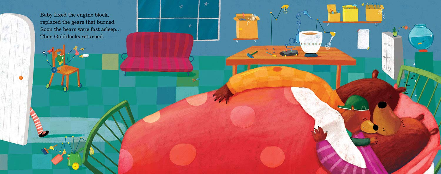 celebrate-picture-books-picture-book-review-goldilocks-and-the-three-engineers-bed