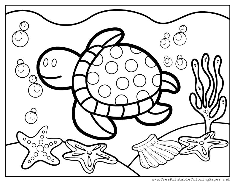 celebrate-picture-books-picture-book-review-Turtle-Swimming-coloring-page