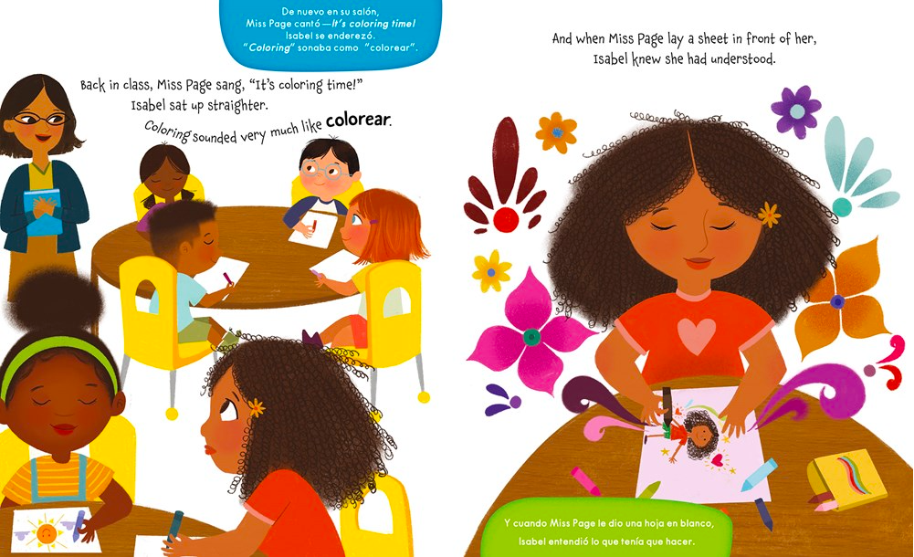 celebrate-picture-books-picture-book-review-isabel-and-her-colores-go-to-school-drawing