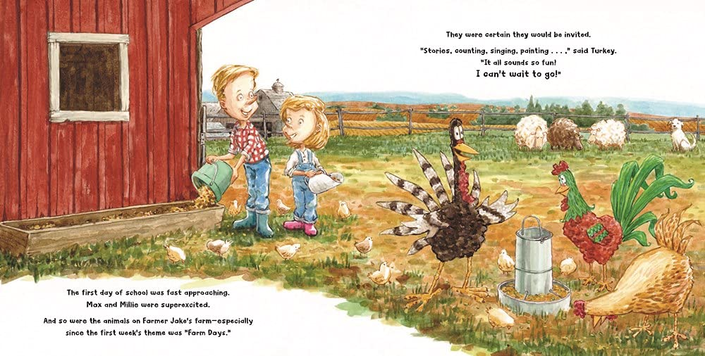 celebrate-picture-books-picture-book-review-turkey-goes-to-school-farm