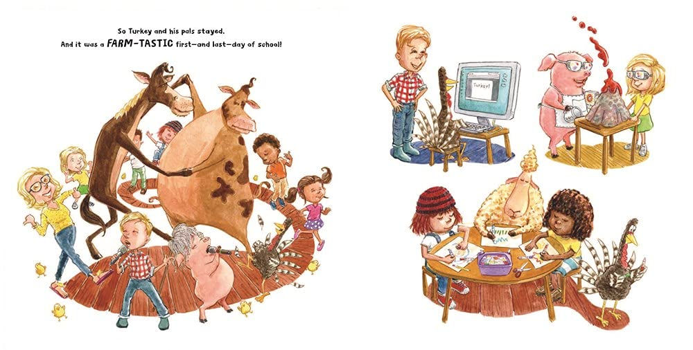 celebrate-picture-books-picture-book-review-turkey-goes-to-school-first-day
