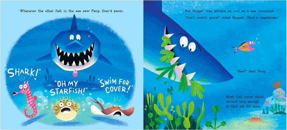 celebrate-picture-books-picture-book-review-nugget-and-fang-go-to-school-panic